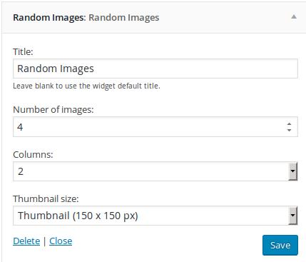 Random Images Widget