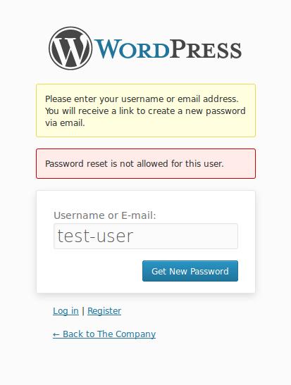 Passwort Reset eines gesperrten Accounts